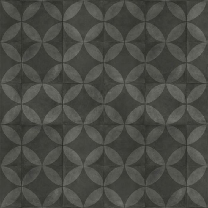 Tile Flower Black
