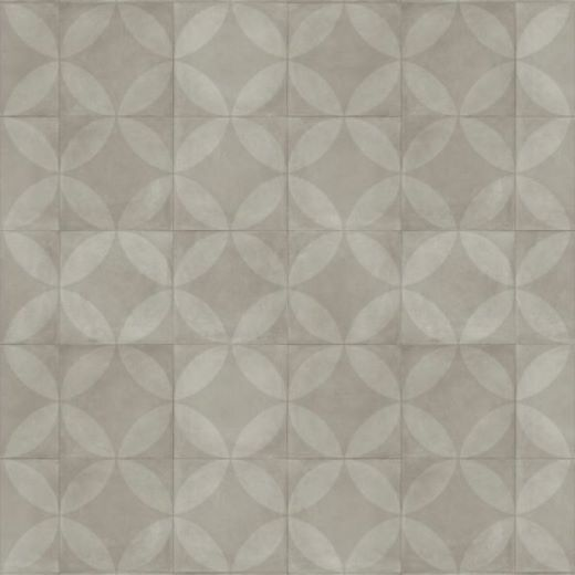 Tile Flower Light Grey
